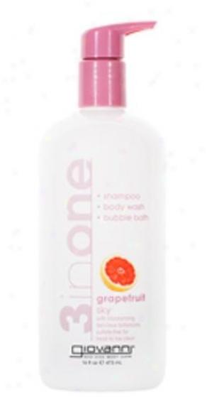 Giovanni's 3-in-one Giovanni's 3-in-one Shampoo, Body Wash & Bubble Bath Grapefruit Sky 16 Oz