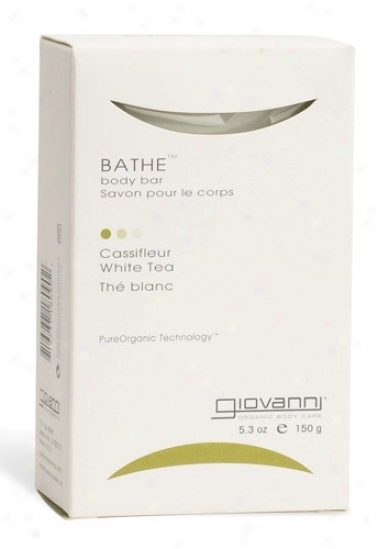 Giovanni's Bathe Bar Soap Cassifleur White Tea 5.3oz