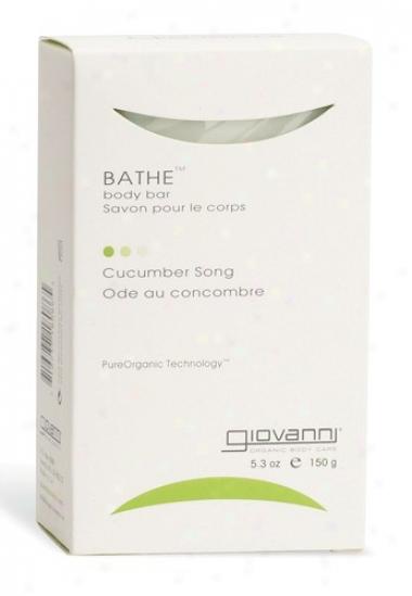 Giovanni's Bathe Bar Soap Cucumber Song 5.3oz