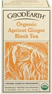 Good Earth's Tea Orgaanc Apricot Ginger Black 18bags