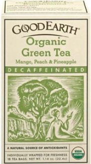 Good Earth's Tea Organic Green Decaffeinated Mango Peach And Pineapple 18bags