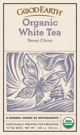 Good Earth's Tea Organic White Sweet Citrus 18bags