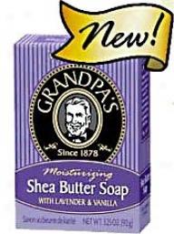 Grandpa's Soap Shea Butter W/ Lavevder & Vanilla 3.25oz
