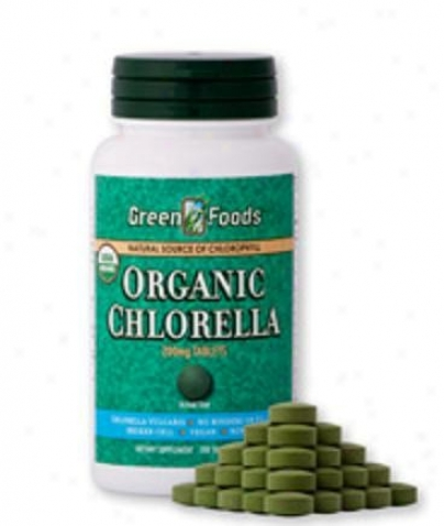Green Foods Organic Chlorella 200mg 300tabs