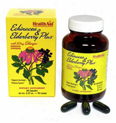 Health Aid's Echinacea & Elderberry Plus 60caps