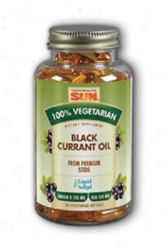 Health From The Sun's 100% Vegetarian Black Currant Oil 60vsg