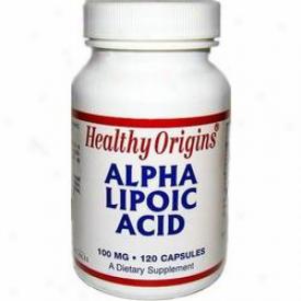 Healthy Origin's Alpha Lipoic Acid 100 120caps