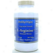 Healthy Origin's L-arginine-sr 350 Mg 18 0Tab