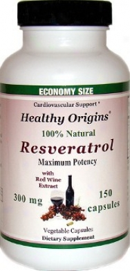 Healthy Origin's Resveratrol Max Pot 300mg 150vcaps