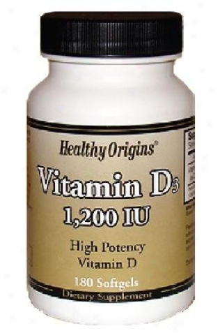 Healthy Origin's Vitamin D3 1200iu 180sg