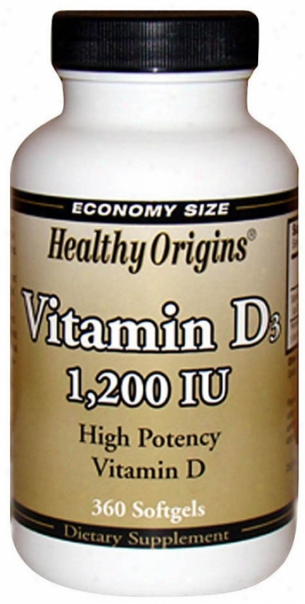 Healthy Origin's Votamin D3 1200iu 360sg