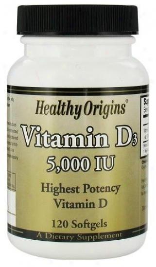 Healthy Origin's Vitamin D3 5000iu 120sg