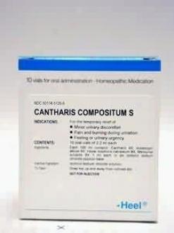 Heel's Cantharis Compositum 10 Vials