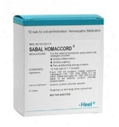 Heel's Sabal Homaccord 10 Oral Vials 1.1ml