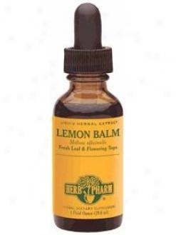 Herb Pharm's Lemon Baom/meliasa Officinalis 1 Oz