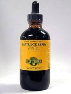 Herb Pharm's Partridge Berry/mitchella Repens 4 Oz