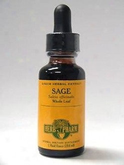 Herb Pharm's Sage/salvia Officibalis 1 Oz