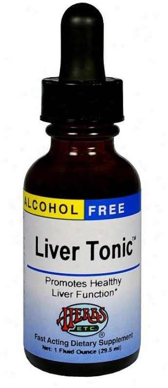 Herbs Etc LiverT onic 1oz Alcohol Free