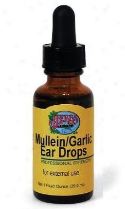 Herbs Etc Mullein/garlic Ear Drops 1oz (contains Grain Alcohol)
