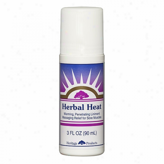 Inheritance Products Hergal Heat Roll--on Muscle Salve 3oz