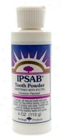 Hertage Products Ipsab Tooth Ppwder Cinnamon W/ Xylitol 4oz