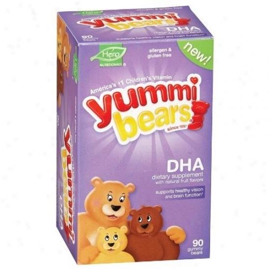Hero Nutritionals Yummi Bears Dha 90gummy Bears