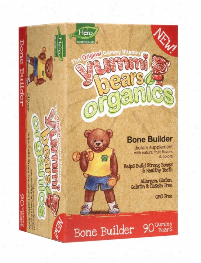 Hero Nutritionals Yummi Bears Organic Bone Builder 90gummy Bears