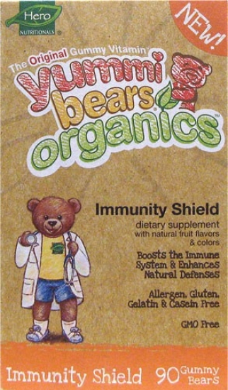 Hero Nutritionals Yummi Bears Organics Immunity Shield 90gummy Bears