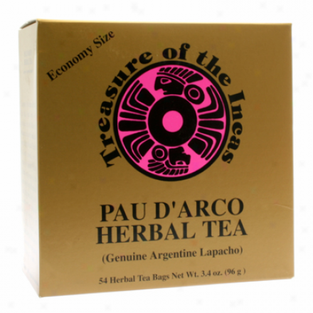 Hobe Labs Treasure Of The Incas Pau D'arco Herbal Tea 54bags