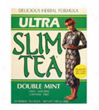 Hobe Labs Ultra Slim Tea Double Mint Tea Bags 24bags