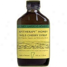 Honey Gardens Apiaries Apitherapy Honey Wild Cherry Syrup 4 Oz