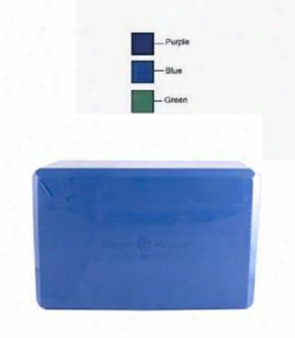 Hugger Mugger Yoga Product's Block Foam Blue 1pc
