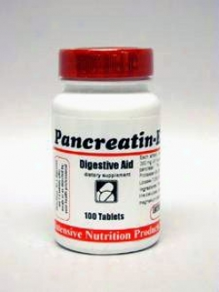 Intensive Nutrition's Pancreatin Enteric 100 Tabs