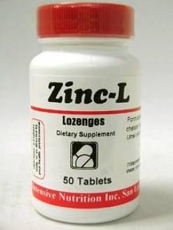 Intensive Nutrition's Zinc Lozenges 50 Tabs