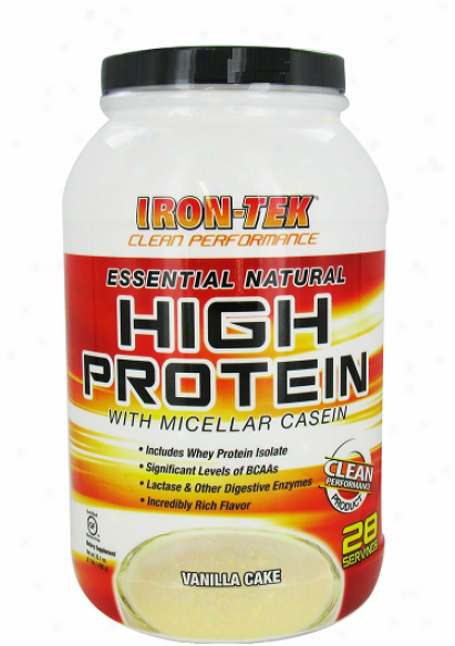 Irontek's Essential Natural High Protein Vanilla 2.2lb