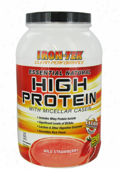 Irontek's Essential Natural High Protein Wild Strawberry 2.2lb