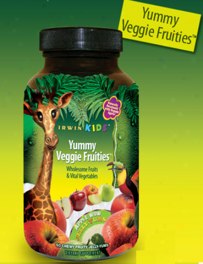 Irwin Naturals Yummy Veggie Fruities Apple Wow Fruity Jelly-yums 60tabs
