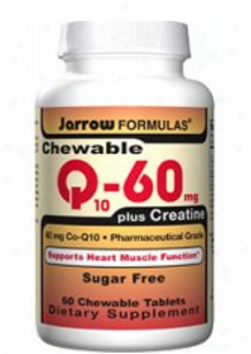 Jarrow's Chewable Co-q10 + Creatine 50mg 60tabs