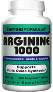 Jarrow's L-arginine 1000mg 100tabs