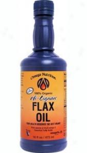 Jarrow's Organic Hi Lignan Flax Oil 16 Fl Oz