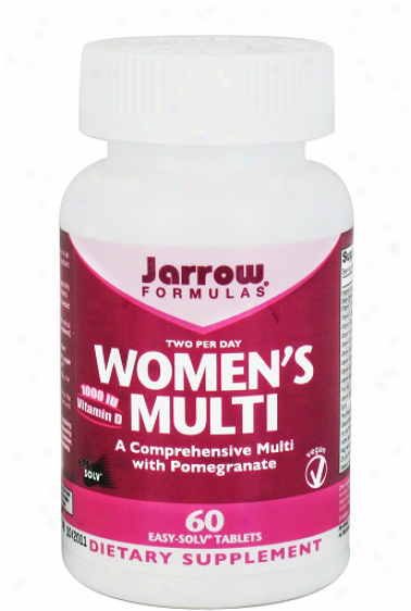 Jarrow's Women's Multi W/ Iron Vitamin D & Pomegranate 60tabs