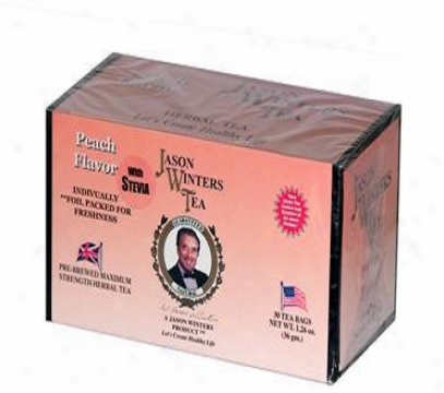Jason Winters Peach Tea Sweetened W/ Stevia 30bags