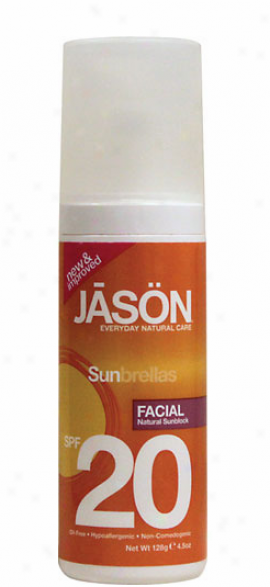 Jason's Sunbrellas Facial Block Sunblock Spf-20 4.5oz