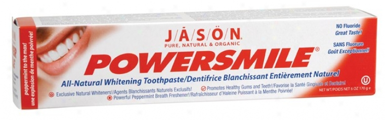 Jason's To0thpaste Powersmile Allnatural Whitening 6oz