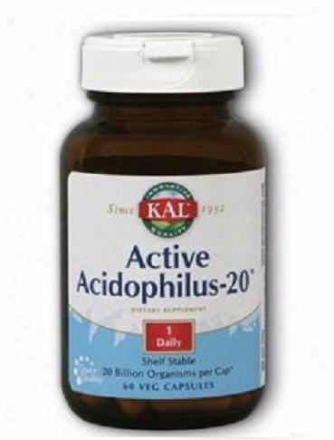 Kal's Active Acidophilus-20 Shelf Stable 20bil 60vcaps