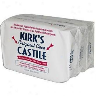 Kirk's Natural's Castile Soap Original 3pk
