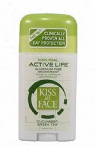 Kiss My Face's Deodorant Sport Cucumber Green Supper Pf Active Life 2.48oz