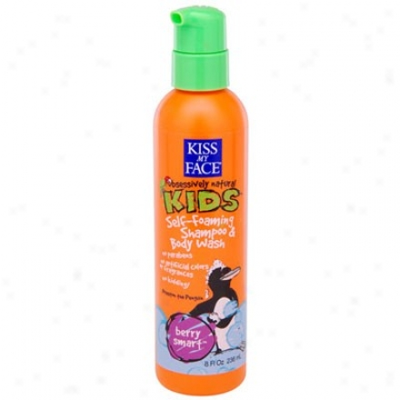 Kiss My Face's Kid's Berry Smart Shampoo & Body Wash 8oz