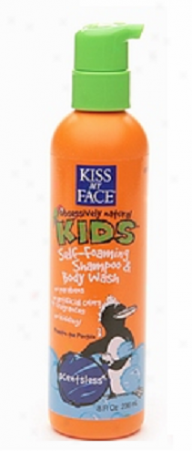 Kiss My Face's Kid's Shampo & Body Wash Scentkess Self Foaming 8oz