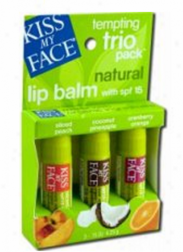 Kiss My Face's Lip Balm Tempting Trio Version-1 3pks